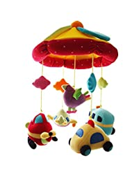 SHILOH Improved Baby Plush Crib Mobile with 60 songs Musical Box and Arm-Car Plane BOBEBE Online Baby Store From New York to Miami and Los Angeles