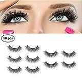 Pestañas Postizas Pestañas Mink 3d Lashes - RFAIKA 10 artículos Pestañas Mink Gafas para Maquillaje los Ojos, Cobertura ocular completa para mejorar su belleza, efectos naturales,Hecho a Mano Impermeable Grueso