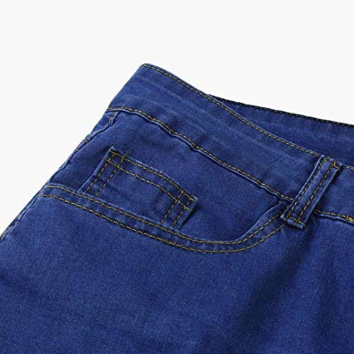 Slim Denim Pantaloni In Scuro Skinny Da Ragazzi Strech Casual Blu Classiche Destroyed Jeans Uomo Fit Chern Pants xIxFqR5