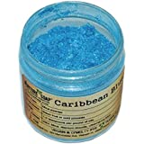 Caribbean Blue Mica (1 oz jar) Powder Soap Making Colorant Cosmetics Art Crafts Nail Polish Resin Casting Stamping Dye Pigment Color