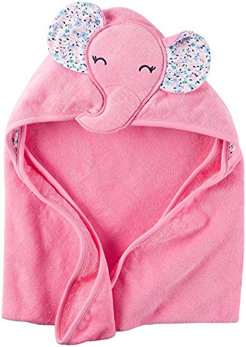Carter's Hooded Bath Towel - Little Elephant - Pink Carters Terry Hooded Towel