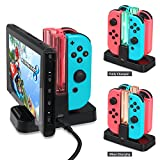Nintendo Switch Controller Charger , Joy-con Charging Dock with Pro Controller Charger for Nintendo Switch