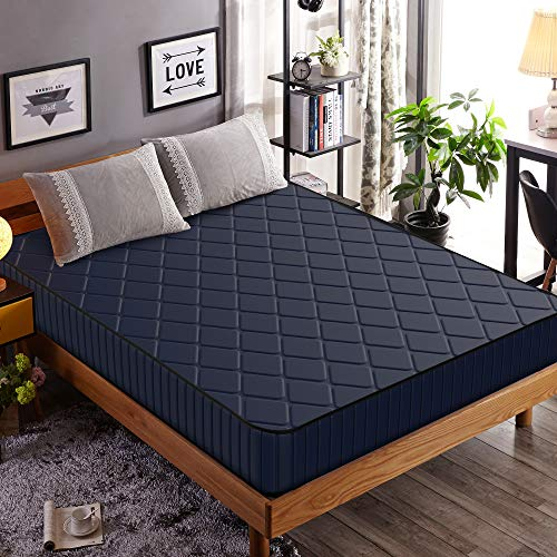 Edow 10 Inch Firm Foam Mattress, Waterproof Cover Fabric,Polyester-Filled Comfort Layers. (Queen, - Mattress Firm Foam