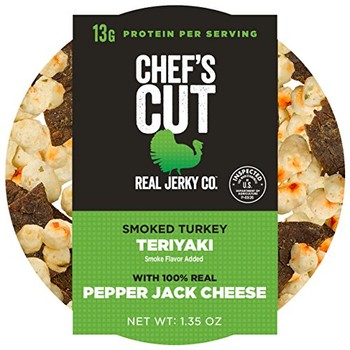 Thick Bacon Cut (Chef's Cut Real Turkey Jerky | Pepper Jack Cheese | Protein Cup | 6 Count | 1.35 oz)