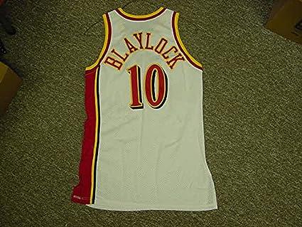 best cheap f0b4f ff4f6 Mookie Blaylock Atlanta Hawks 1992-1995 Game Jersey at ...