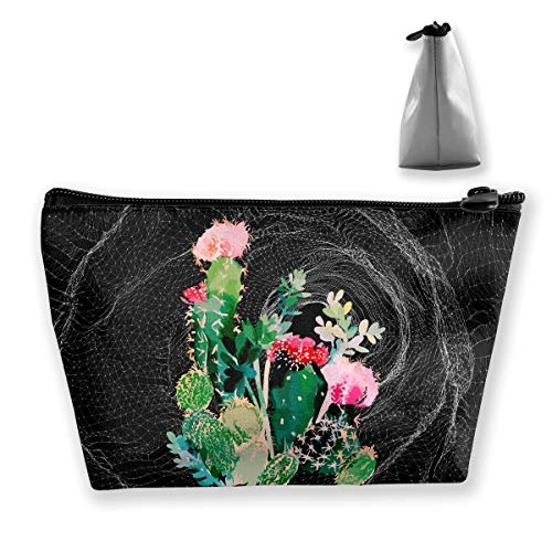 Wodehous Adonis Cactus Painting Art Cosmetic Bags Portable Travel Makeup Pouch Toiletry Organizer