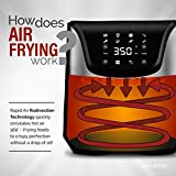 Gourmia GAF635 Digital Multi Mode Air Fryer   Oil-Free Healthy Cooking   8 Preset Cook Modes   6-Quart Capacity   Stainless Steel Design   Removable, Dishwasher-Safe Basket   Free Recipe Book Included