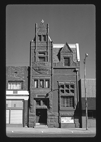 8 X 12 Bw Photo Of  Bank 1889 Willa Cather History Center  Webster Street  Red Cloud  Nebraska 1988 Roadside America Margolies  John  Photographer 01R