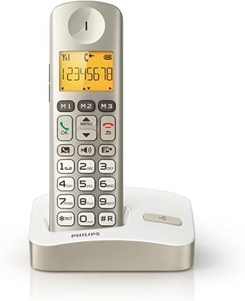 Philips XL3001C23 - Teléfono fijo digital (Manos libres, micrófono mudo, visualizador iluminado), crema: Amazon.es: Electrónica