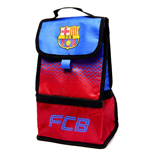 FC Barcelona Official Fade Insulated Football/Soccer Crest Lunch Bag (One Size) (Red/Blue) by F.C. Barcelona