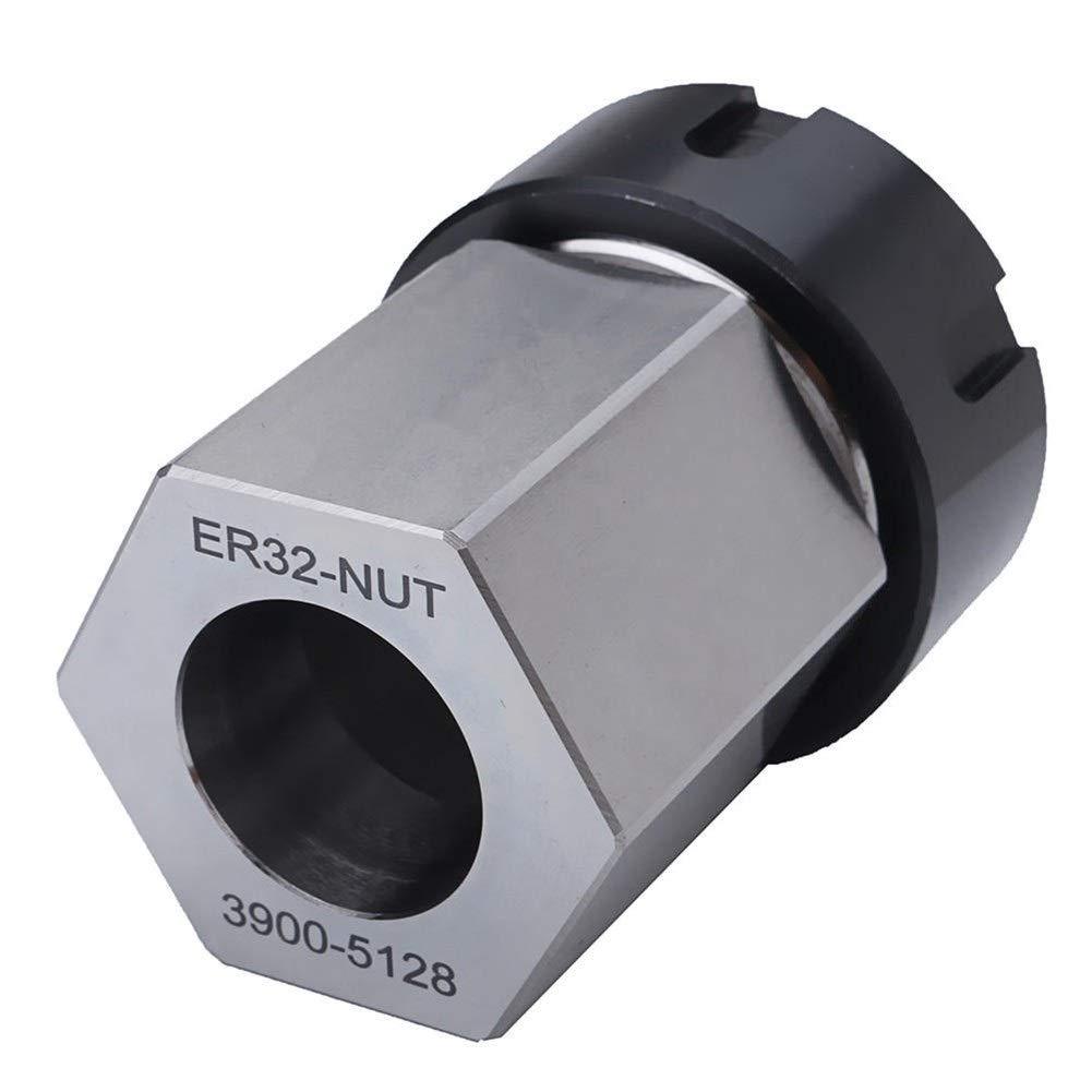 Nrthtri smt Hard Steel Hex ER-32 Collet Chuck Block CNC Lathe Tool Holder Lathes