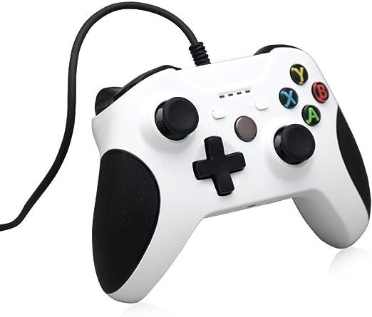 AAAHOMEEU Wired XBox One Controller con cable reemplazo Gamepad Compatible con XBox One y Windows PC: Amazon.es: Videojuegos