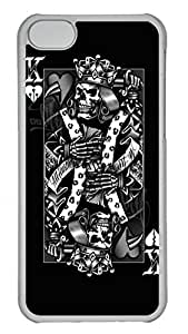 Apple iPhone 5C Case - Spade K Black Skull Funny Lovely Best Cool Customize iPhone 5C Cover