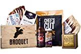 Bacon Gift Pack (Bacon Lover Sampler Set) - Bacon Six Ways - Gourmet Food Gift - Great Gift For Men - Comes in a Wooden Gift Crate