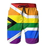 VerTmRee Men's Flag of South Africa Summer Quick Dry Swim Trunks Workout Swimwear