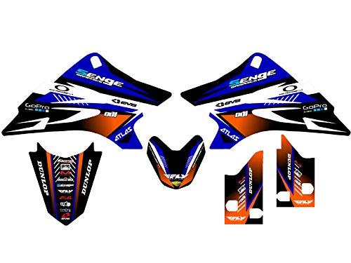 Senge Graphics 2006-2018 Yamaha TTR 50, Surge Blue Graphics Kit (Graphic Ttr50 Kit)