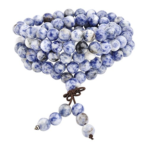 Sodalite Gemstone Buddhist Bracelet Necklace