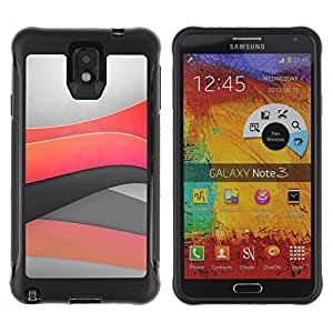 Pulsar Defender Series Tpu silicona Carcasa Funda Case para SAMSUNG Galaxy Note 3 III / N9000 / N9005 , Minimal light waves