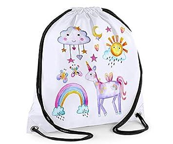 Owl Drawstring Bag Personalised Sack Gym PE Swim School Waterproof
