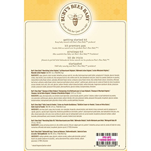 Burt's Bees Baby Getting Started Gift Set, 5 Products in...