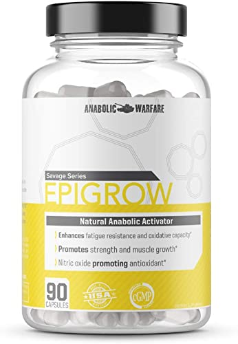 Epigrow Anabolic Activator by Anabolic Warfare Helps Promote Strength and Muscle Growth 90 Capsules