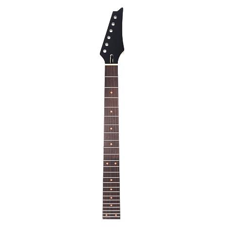 ammoon 24 Trastes Nuevo Reemplazo Cuello de Arce Diapasón de Palisandro Diapasón para la Guitarra Eléctrica