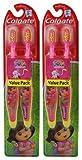 Colgate Kids Twin Pack Toothbrush, Dora The Explorer (2 Pack)