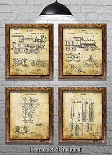 Train Decor Railroad Decor - Set of Four 8