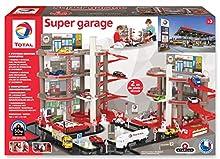 Total Starlux Super Garaje Completo - Doble Parking y estación Servicio con circuitos 2 Metros, 401001, Rojo Gris y Negro