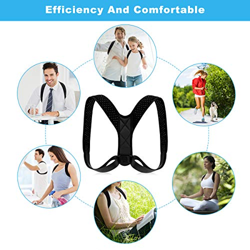Posture Corrector for Women Men - Back Brace Shoulder Brace,Adjustable bodywellness Posture Corrector Brace Posture Belt Back Strap Bad Posture Upper Back Brace Posture Clavicle Support (l)