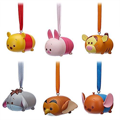 Disney Pooh and Friends Tsum Ornament 6 Piece Set (Winnie Pooh The Merchandise)