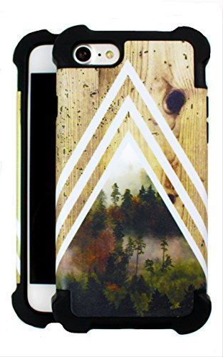 (Chevron Dense Forest x Tree Bark Wood Design Phone Case (iPhone 8 / iPhone 7)