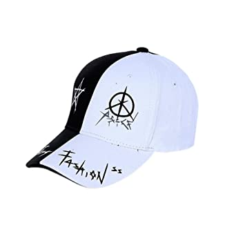 735498204399d Prom-note gorras beisbol - Gorra para hombre mujer Sombreros de verano  costura bordado gorra béisbol Couple gorras Al aire libre (Negro+Blanco)   Amazon.es  ...