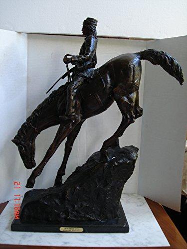 (Mountain Man - Bronze Sculpture - Signed by Frederich Remmington - 2' 4.5