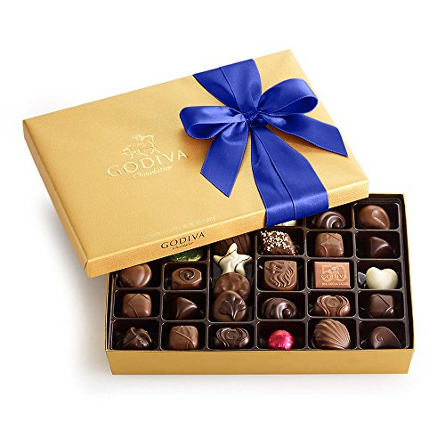 - Godiva Chocolatier Assorted Chocolate Gold Gift Box, Royal Ribbon, 36 pc.