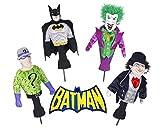 Licensed Batman the Dark Knight & Villain Golf Head Cover Complete Collector Set (Joker, Penguin, Riddler, & Batman)