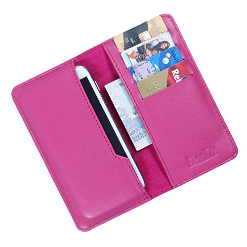 DooDa Genuine Real Leather Wallet Case Cover With Card Slots For Lava Iris X1
