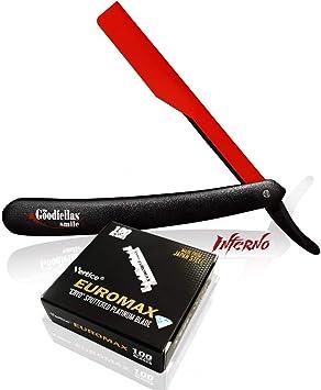 Afeitadora a mano alzada Inferno + 100 Cuchillas Euromax Premium ...