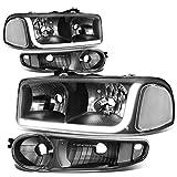 06 gmc yukon denali - GMC Sierra / Yukon Denali LED DRL Light Strip Black Housing Headlight+Bumper Lamp