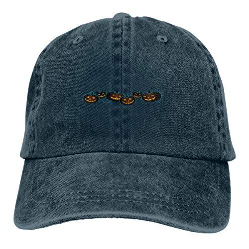 Halloween Black Pumpkin Unisex Baseball Cap Cotton Denim Cool Adjustable Sun Hat for Men Women Youth]()