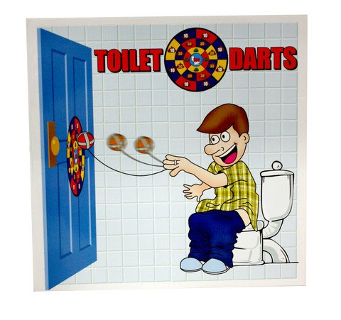 Toilet Darts By Island Toys Amazon Co Uk Sports Outdoors