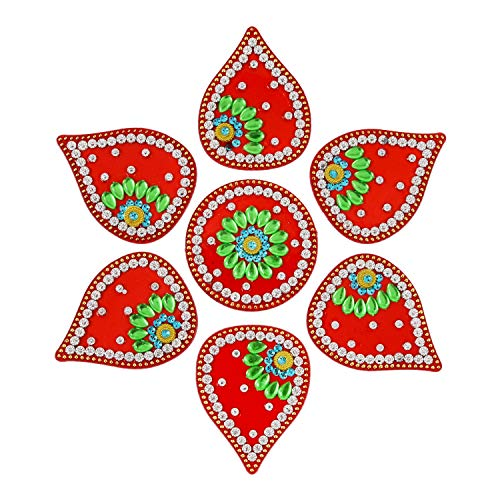 AMBA HANDICRAFT Rangoli/Home Decor/Diwali / Gift for Home/Interior Handcrafted/Floor Stickers/Wall Stickers/Wall Decoration/Floor Decoration/New Year Gift/Party. Rangoli ()