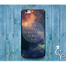 *BoutiqueHouse* iPhone 4 4s 5 5s 5c SE 6 6s plus iPod Touch 4th 5th 6th Generation Cute Quote Phone Case Space Galaxy Nebula Moon Earth Sun Life World Cover(iPhone SE)