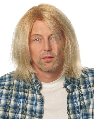 Grunge Rocker Costume (Blonde Costume Wig Kurt Cobain Grunge Men's 90s Rocker Music)