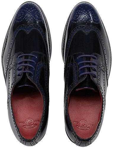 Scarpe Wellensteyn Donhurst In Pelle Lucida Colorata Blu Nero