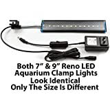 Aquatic Life Reno 9-Inch Freshwater LED Aquarium Clamp Light Fixture