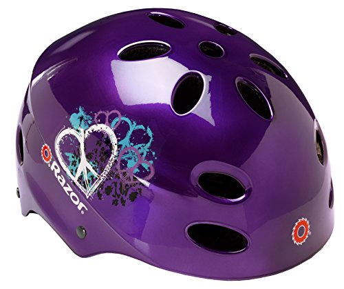 Razor V-17 Youth Muli-Sport Helmet, Purple Peace Review