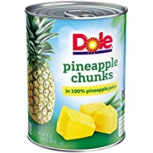 Dole Pineapple Chunks in 100% Pineapple Juice 20 oz. (Pack of 3)