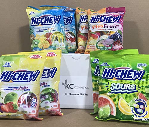 KC Commerce Japanese HI-CHEW Candy Variety Pack (HI-CHEW Pack of 8)