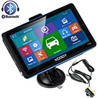 Xgody 718BT 7 Inch Capacitive Touch Screen Portable Car Truck GPS Navigation Sat Nav 8GB FM MP3 MP4 Lifetime Map Update with Wireless Rearview Backup Camera